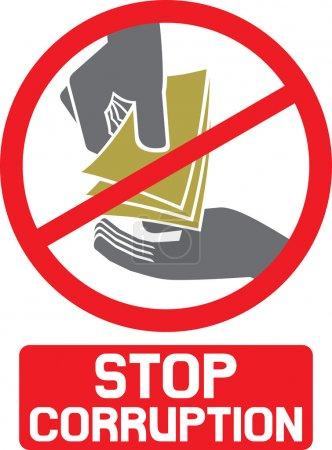 Stop corruption sign