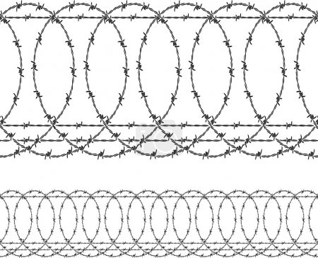 Barbed wire (wired fence)