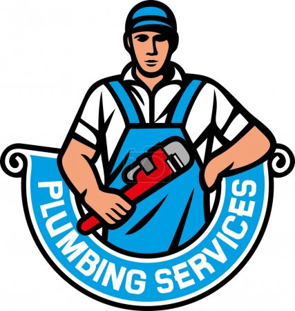 Plumber holding a wrench