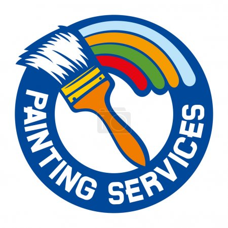 Painting services label