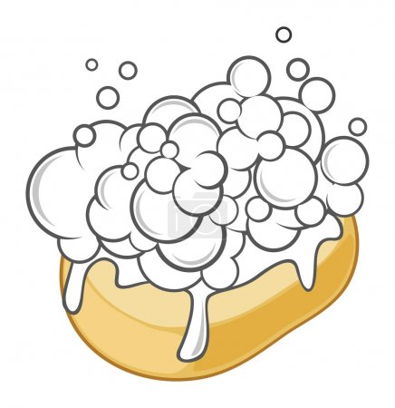 Illustration for Soap with foam illustration - Royalty Free Image