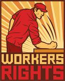 Dělníci práva plakát