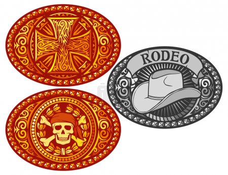Belt buckle vector