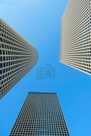 Photo for Skyscrapers on blue sky background - Royalty Free Image
