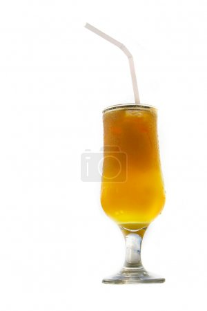 cocktail with orange juice over white
