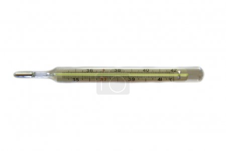 medical thermometer over white