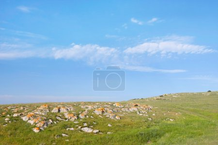abstract landscape with stones and sky