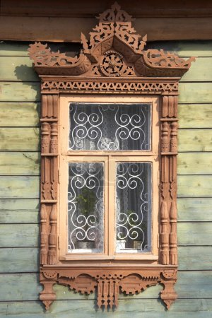 carved wooden window frame