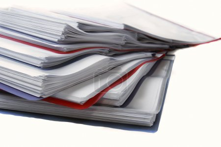Photo for Folder with documents over white - Royalty Free Image