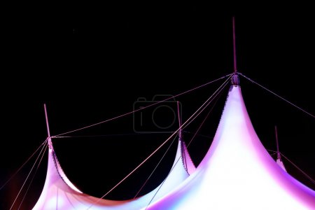 colrful hipped roof on dark background