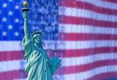 Usa zászló backgorund a Szabadság-szobor