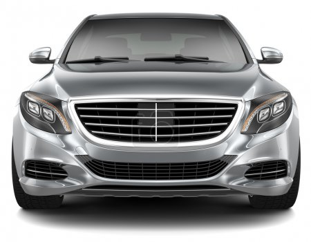 Full-size luxury car - front view