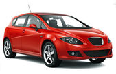 Kompaktní červené auto