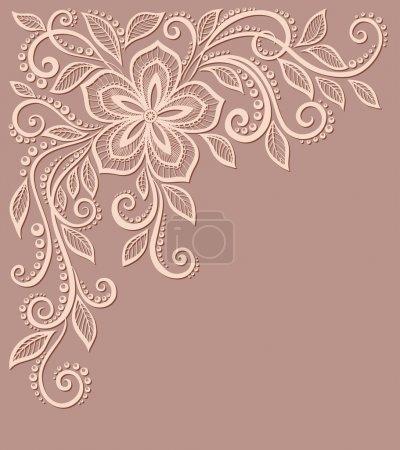 Illustration pour Beau motif floral, un élément de design dans l'ancien style. De nombreuses similitudes avec le profil de l'auteur - image libre de droit