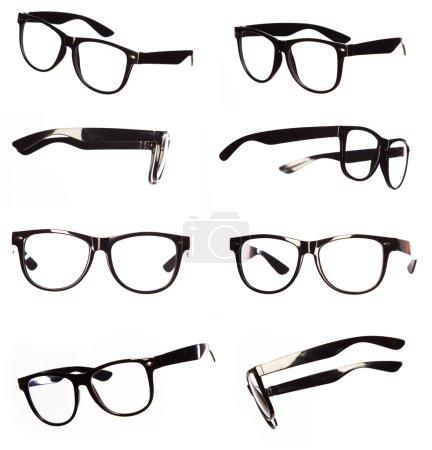 Photo pour Ensemble de lunettes noires classiques - image libre de droit