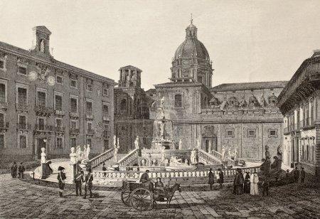 Piazza Pretoria, Palermo, Italy