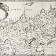 Old map of North-East Sicily. The original map is ...