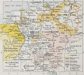 Germany in 1795 old map (Peace of Basel). By Paul