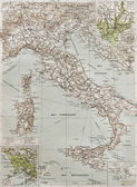 Italy at the end of 19th century with Naples and R