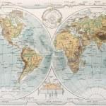 World map. By Paul Vidal de Lablache, Atlas Classique, Librerie Colin, Paris, 1894