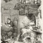 Alchemist laboratory old illustration. By unidenti...