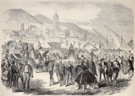 Wounded soldiers in Malaga
