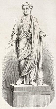Photo pour La jeune statue de Néron. Créé par Chazal, publié sur L'Illustration, Journal Universel, Paris, 1863 - image libre de droit