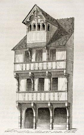 Caen wooden house