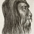 Shwe-Maong profile (Burmese hairy man). By unidentified author, published on Magasin Pittoresque, Paris, 1842