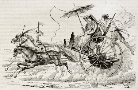 Neapolitan gig old illustration
