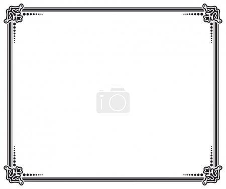 Illustration for Black and white vector frame - Royalty Free Image