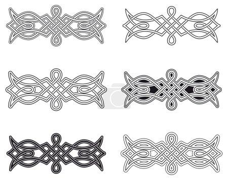 Celtic knot six different arrangements...