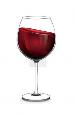 Illustration pour Verre de vecteur de vin - image libre de droit