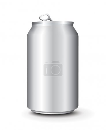 Illustration for Aluminum Cans Template vector - Royalty Free Image