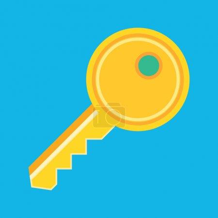 Illustration pour Icône de clé de vecteur - image libre de droit