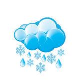 Snow And Rain Icon