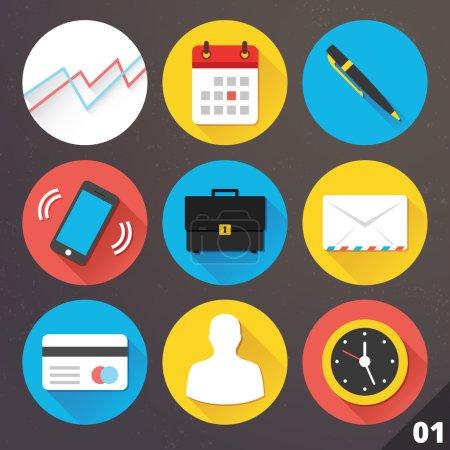 Illustration pour Icônes vectorielles pour les applications web et mobiles. ensemble 1. - image libre de droit