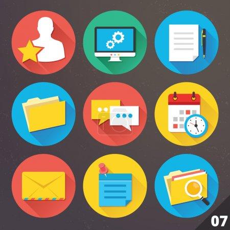Illustration pour Icônes vectorielles pour les applications web et mobiles. Set 7. - image libre de droit