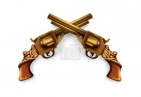 Vector Crossed Revolvers