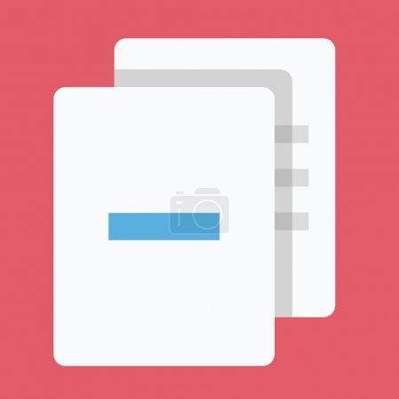 Vector Delete Documents Icon