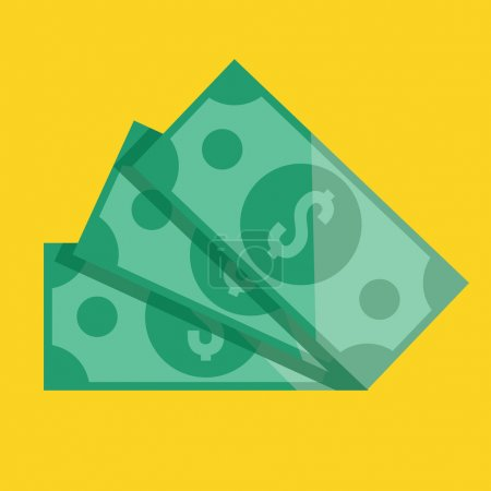 Vector Dollar Bills Icon