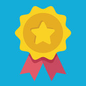 Vector Gold Medal Icon