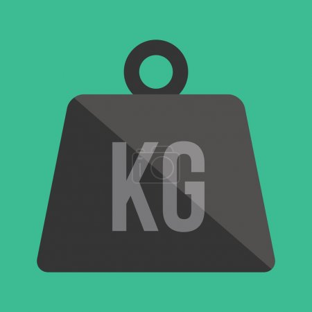 Illustration for Vector Weight Kilogram Icon - Royalty Free Image