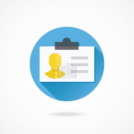 Illustration pour Icône de carte d'identité vectorielle - image libre de droit