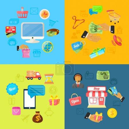 Illustration for Vector E Commerce Illustration - Royalty Free Image