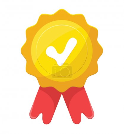 Vector Gold Medal Flat Icon