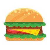 Vektor-Sandwich-flach-Symbol