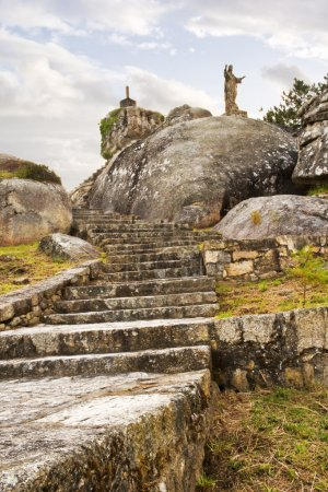 Stairs of Con do Forno viewpoint