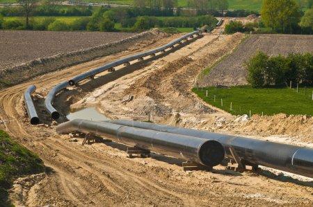 Photo pour Construction d'un pipeline - image libre de droit