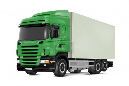 Illustration pour Image vectorielle détaillée du camion sur fond blanc - image libre de droit